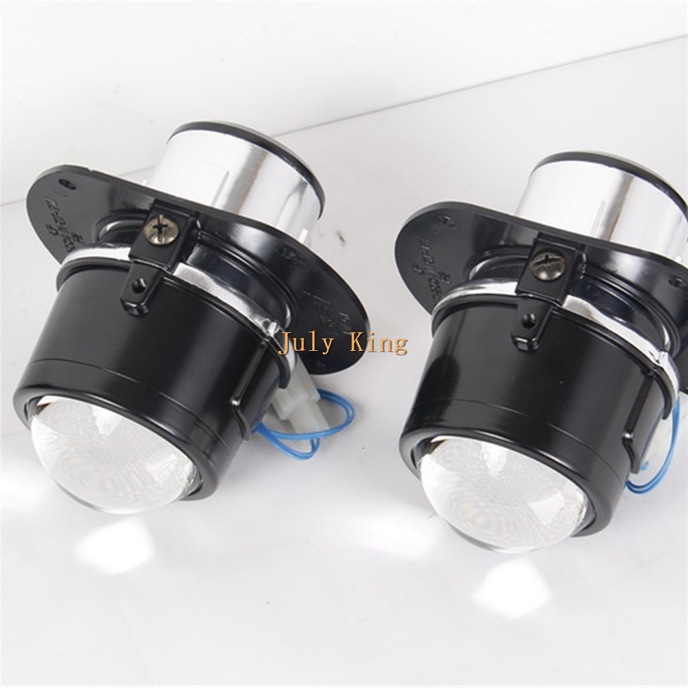 July King Car Front Bumper Bifocal Lens Bifocal Lens Fog Lamp Assembly Case for Mercedes Benz C W204 M W164 S W221 R171 AMG SLK july king car front bumper bifocal lens fog lamp assembly case for mercedes benz a b c e cls gl glk m class and smart fortwo etc