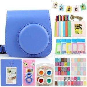 Image 2 - PU skórzana torba etui z 3 cal 96 kieszenie w jasnych kolorach mini film Album fotograficzny/naklejki/obiektyw dla Fujifilm Instax Mini8/8 +/9
