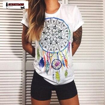 2020 New Fashion Women T Shirt Short Sleeve women Printed Letters T-Shirts Female Retro Graffiti Flower Lady T Shirt Top Tee 4XL