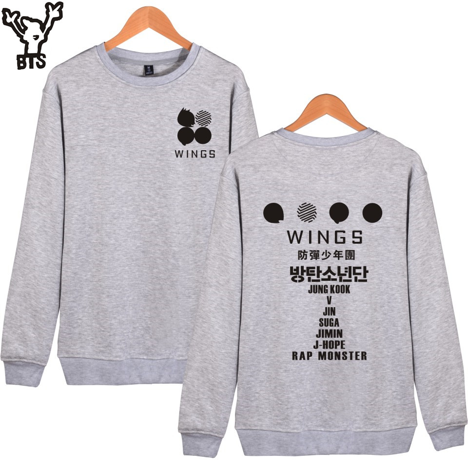 BTS Kpop Capless Hoodies Women Winter Korean Hip Hop Bangtan Casual Printing Sweatshirt Women Hoodies Wings Album Fashion Clothe