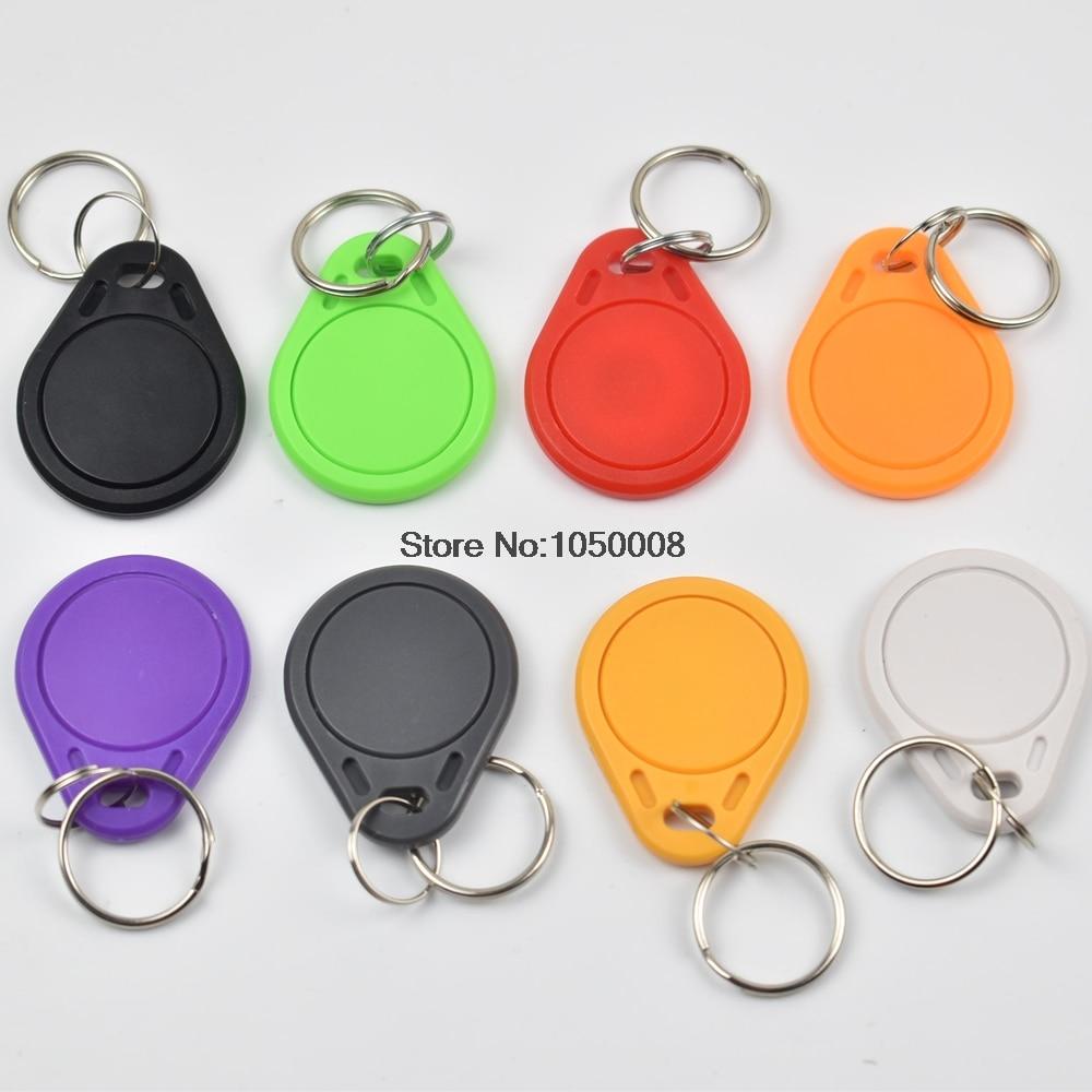 bilder für 50 teile/los T5577 Wiederbeschreibbare Programmierbare RFID 125 KHz Schlüsselanhänger Keyfobs Schlüsselfinder Für Kopie EM4100 Karten