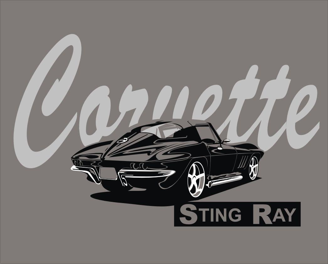 2018 Hip Hop Novelty Men S Brand Corvette Stingray T Shirt Retro