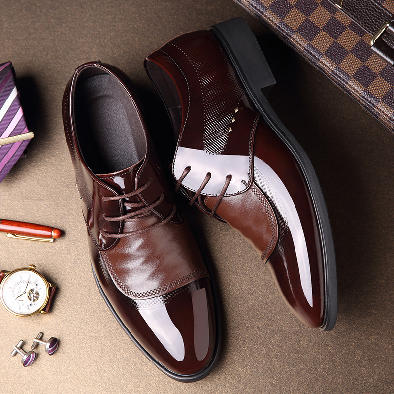 Модные повседневные мужские туфли из воловьей кожи; дышащая деловая обувь из натуральной кожи; Мужские модельные туфли на шнуровке; сезон в... - 6