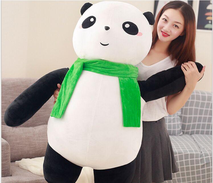 Énorme belle peluche panda jouet grande grosse écharpe douce panda poupée cadeau environ 100 cm 2945