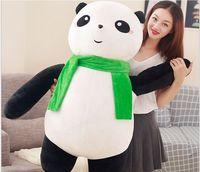 huge lovely plush panda toy big fat scarf soft panda doll gift about 100cm 2945