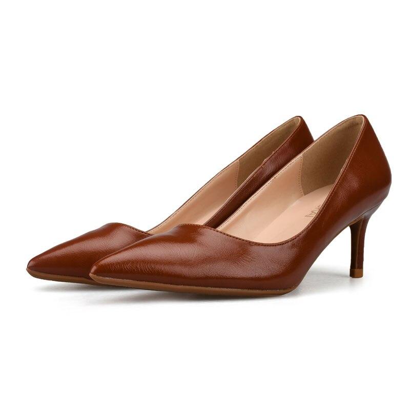 Cm Femme Taille Rouge d01 Chaussures Tacon Cuir Pompes Talons 44 Brown 35 6cm y6 D01 Zapatos Black En Haute y6 Noir Mujer 6 wFtgF