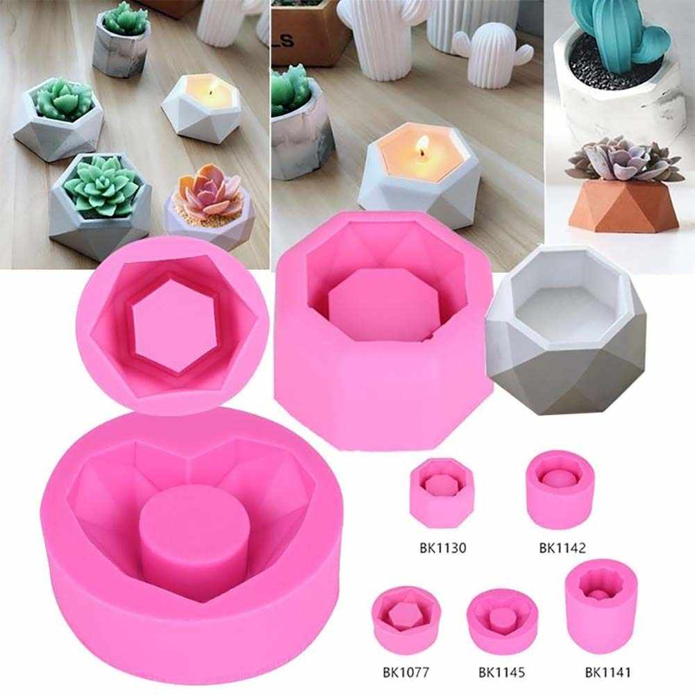 5 Types Art Flower Pot Silicone Mold DIY Garden Planter Mold Accessories  Home Gardening Succulent Plants