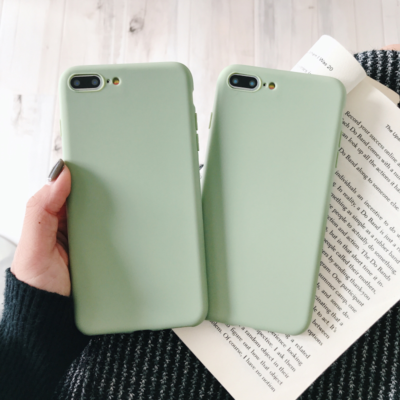 Simple Solid Color Soft Phone Case For iPhone XS Max case Fashion TPU Silicone material For iPhone 6 6S 7 8 Plus X XR Back Cover