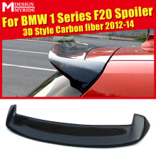For BMW F20 Roof Spoiler 3D Style 120i 118i 125i 130i 135i 135is Carbon Fiber Rear Trunk Wing car styling 12-14