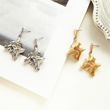 Creative fashion earrings  retro geometric Temperament female Ms metal big wholesale