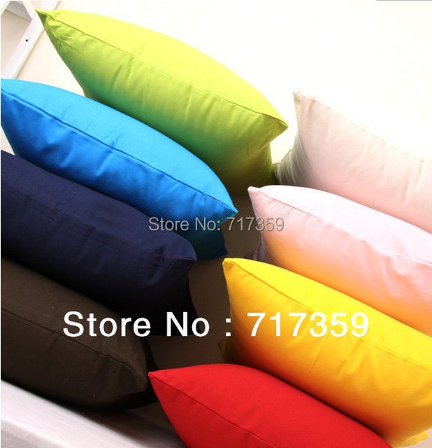 Free Shipping 3pcs/Lot ,10 Candy Dreams Colors Simple Design Micro Suede Pillow Case Cushion Cover  650230-650239