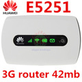 Unlocked Huawei E5251 42.2Mbps 3G HSPA+ UMTS router USB Wireless3g Router Pocket miFi 3g Mobile Broadband PK E587 E5330 e5756