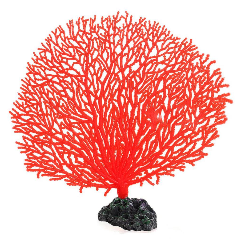 Simulation Artificial Resin Coral Tree for Aquarium Tank Decoration Soft Ornament Red