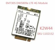 Купить с кэшбэком DW5809e K2W44 for Sierra Wireless EM7305 M.2 4G 100M LTE WWAN Card Module Dell E7450 E7250/7250 E5550/5550 E5450/5450
