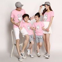 Fashion Anime Family Set 2016 Men T Shirt Harajuku Rabbit Gym Clothing Skate Tshirt Homme Polera T-shirt Mommy Me Kids Clothes