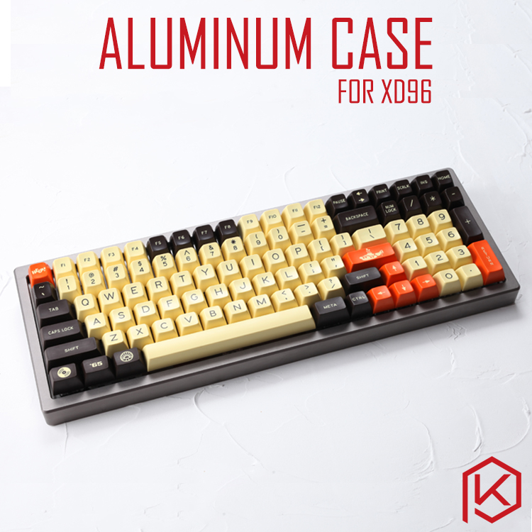 Anodized Aluminium case for xd96 xiudi custom keyboard acrylic panels stalinite diffuser can support Rotary brace