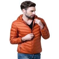 Ultra Thin Lightweight Slim Winter Down Jacket Men Short Hooded Short Design Lovers Down Jackets Plus