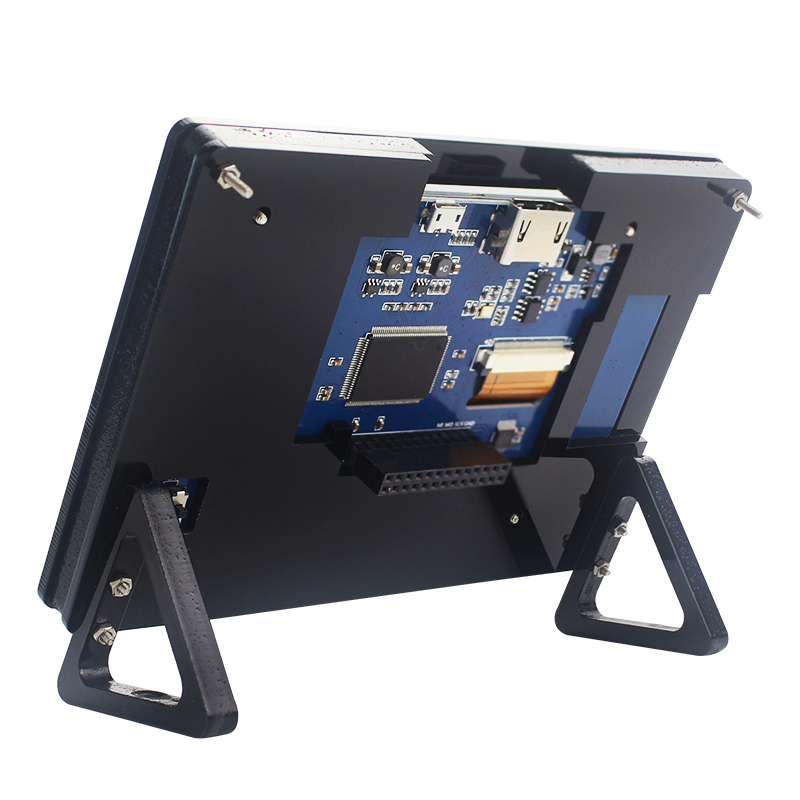 Computer & Office ... Demo Board & Accessories ... 32716682762 ... 5 ... Raspberry Pi 3 Model B+ Plus 5 inch LCD Acrylic Bracket Case Black Fixed Bracket Holder for 800*480 Touchscreen Support ...