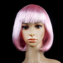Hot Fashion Bob Wig Costume Short Cut Cosplay Party Hair Womens Fancy Dress New(China)