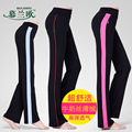 New Women Slim Modal Striped Solid Yoga Pant High Waist Dancing Trousers Workout Leggings Full Length Fitness Baggy Sports Wear