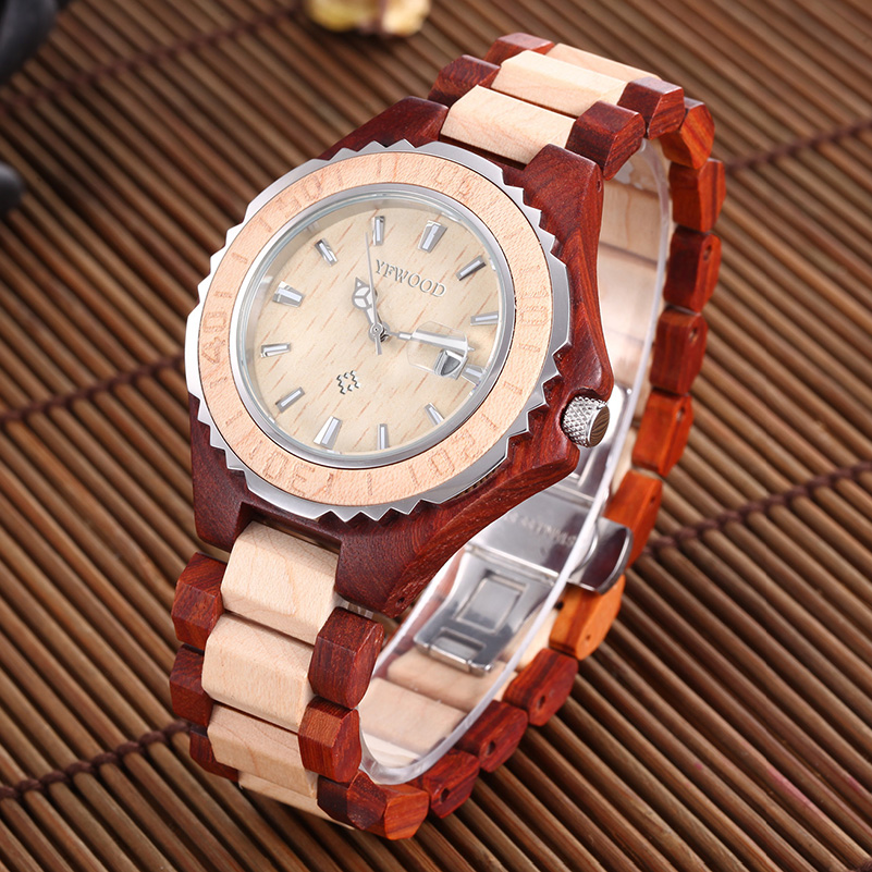 2017 New Men's Watches Top Brand Luxury Casual Wood Band Male Clock Quartz Fashion Wrist Watch Man Relogio Masculino fashion male watches men top famous brand gold wrist watch leather band quartz casual big dial clock relogio masculino hodinky36