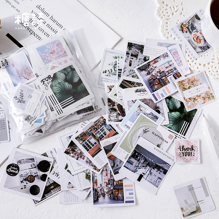 1set/1lot Kawaii Stationery Stickers Retro Plant Diary Planner Decorative Mobile Stickers Scrapbooking DIY Craft Stickers