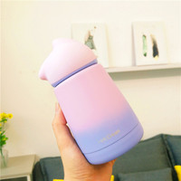 Gradient Vacuum Thermo For Children Cute Student Girls Cartoon Bottle Thermos Staineless Steel 300ML Flask Thermo