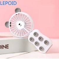 LEPOID Handheld Rechargeable Foldable Mini Fan Air Cooler with Phone Stand Sucker