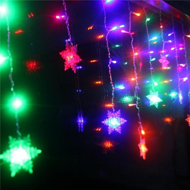 Colorful Snowflake string lights 5c64f7bbf3956