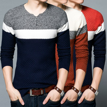 Sweater Men Stripes Mens Knitted Casual Sweater Anti-pilling Knitwear Relaxation Pullover Men's Sweaters European British Style