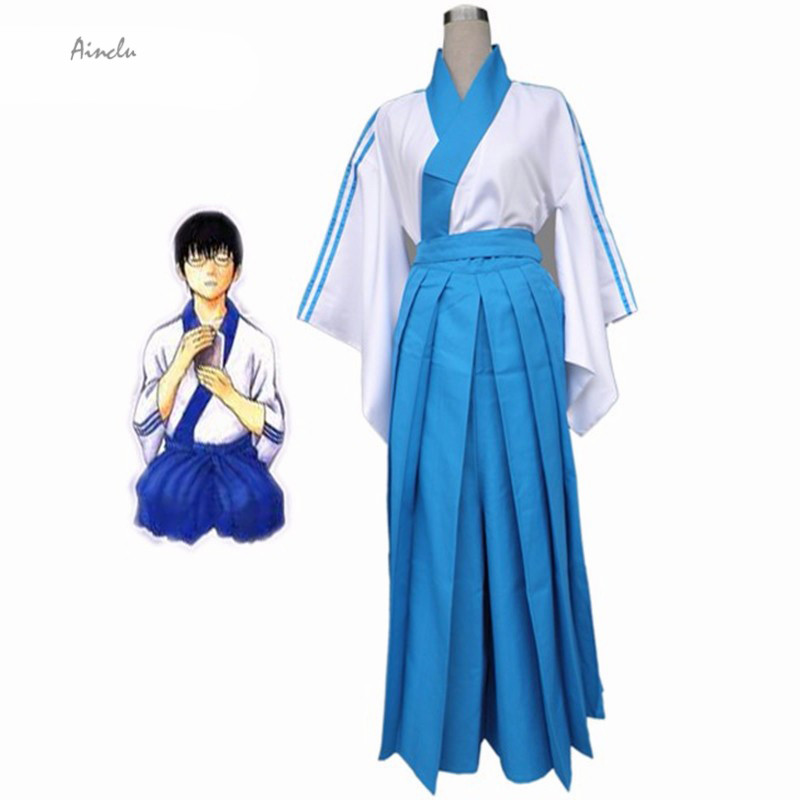 Ainclu New Free Shipping Gintama Shimura Shinpachi  Cosplay Costume For Halloween Kids and Adult Costume