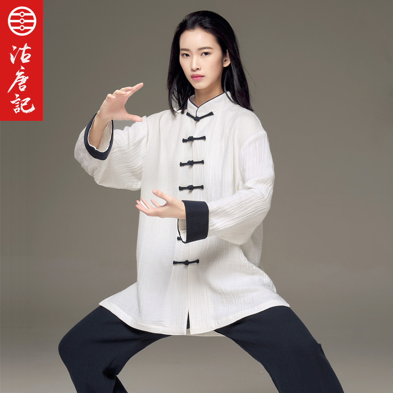 купить Tai Chi Uniform Wave Grain Cotton National Customs Tai Chi Clothes Men And Women With Fund Spring Autumn Taiji Practice по цене 5636.99 рублей
