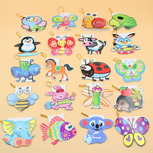 160 pieceslotdiy mini cute children kids birthday greeting cards cartoon animal