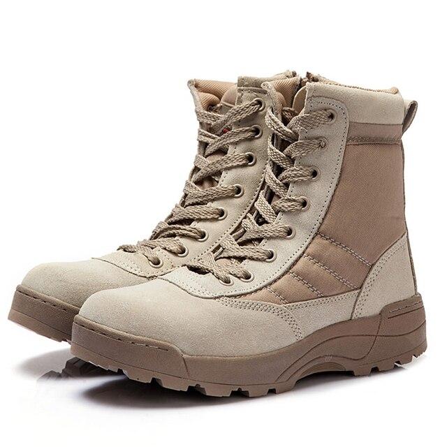 2016 Натуральная Кожа Армейские Ботинки Мужские Военной Пустыне Загрузки Обувь Мужчины Осень Дышащий Загрузки Ботильоны Botas zapatos tacticos