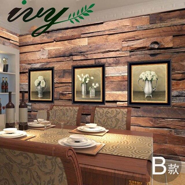 Luxe 3D Behang Wandbekleding Achtergrond Hout Custom ...