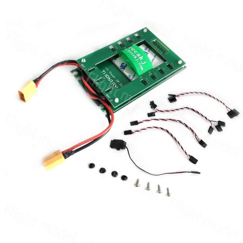 1pcs 4.8-12.6V Mini Power DP Eco 0-30A Servo Section Board with Dual Power Input Wire E2101
