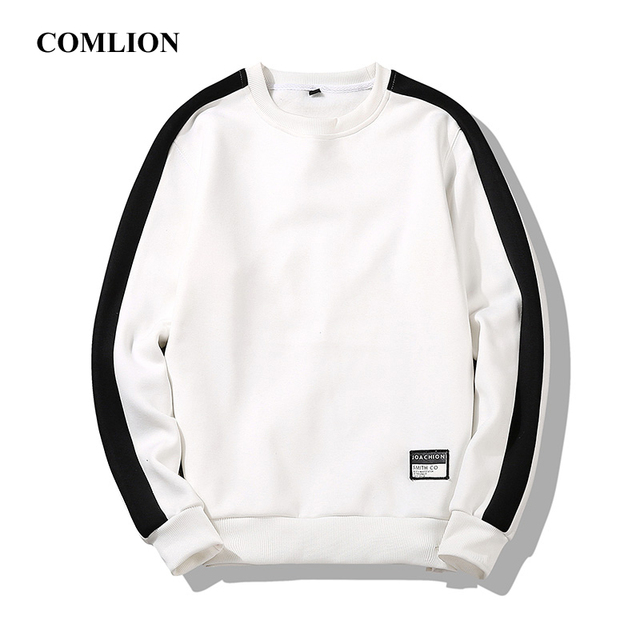 Leisure Autumn T-shirt Men T-shirts / Shirts color: Black White