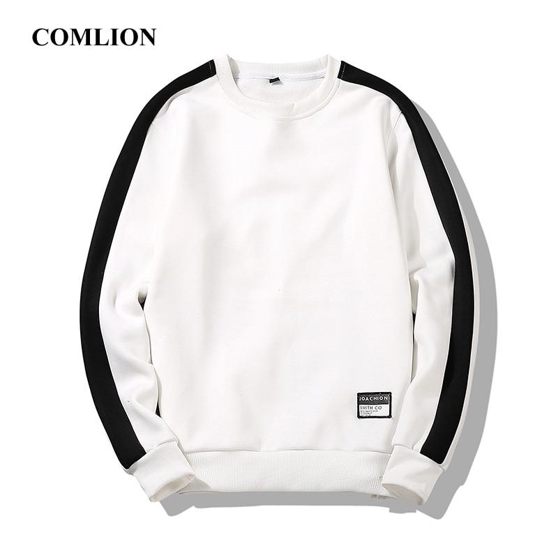 Autumn Leisure Harajuku Sweatshirt Tracksuits Men Black White Plus Size Soft Simple Style Hoodie Casual Loose Male Pullovers C48