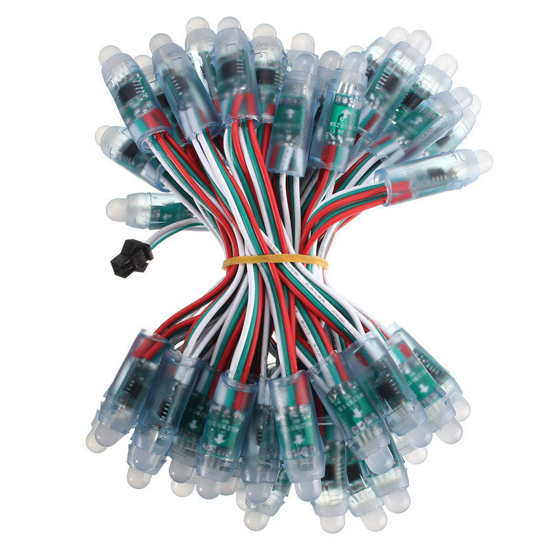 50 шт. 12 мм WS2811 матовый цифровой адресный RGB светодиодный пиксель строка IP68 DC 5 В полноцветный светодиодный строка подсветка для буквы знак