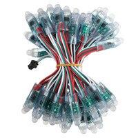 50pcs 12mm WS2811 Diffused Digital Addressable RGB LED Pixel String IP68 DC 5V full color led string lights for letters sign