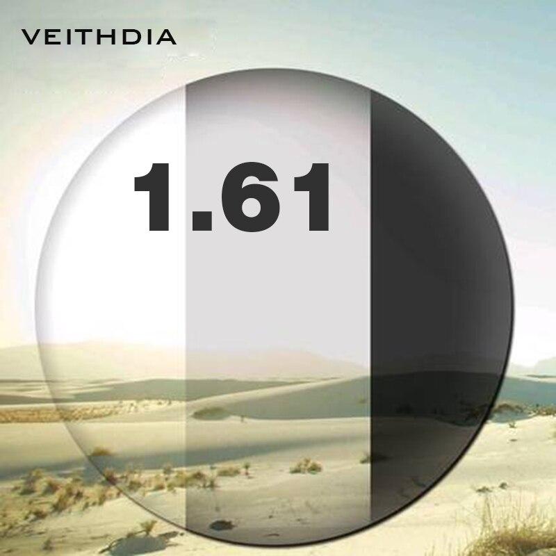 1.61 indice photochromique Vision unique pour la myopie 4.00-6.00, astigmatisme 0.00-3.00 degrés lentille asphérique