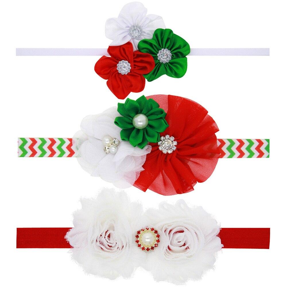 12pcs lot lovely wave chiffon flower christmas hair bows