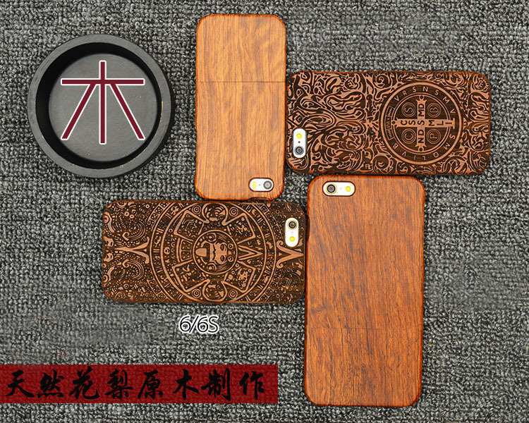 Full Wooden Case for <font><b>iPhone</b></font> 6 6s Handmade Real Wooden Bamboo Carving Hard Case For Apple <font><b>iphone</b></font> 6s 4.7 inch