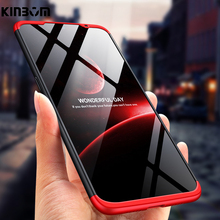 Kinbom case for xiaomi redmi note 7 6 360 Full protective cover for xiaomi redmi note 5 5a 4x pro 3 in 1 matte pc phone case asling drop proof protective cover case for xiaomi redmi 5