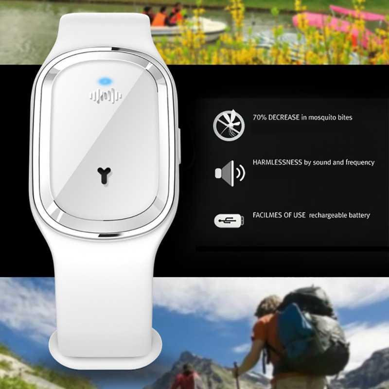 Для детей Комаров Репеллент Браслет электронный звук волна анти-комаров водонепроницаемый Smartwatch для младенцев/беременных женщин