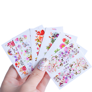 Image 5 - 45pcs Mixed Designs Full Charms Sticker Nail Art Water Decals Deep Color Flower Rabbit Cartoon DIY Decor Manicure Tips TRWG45