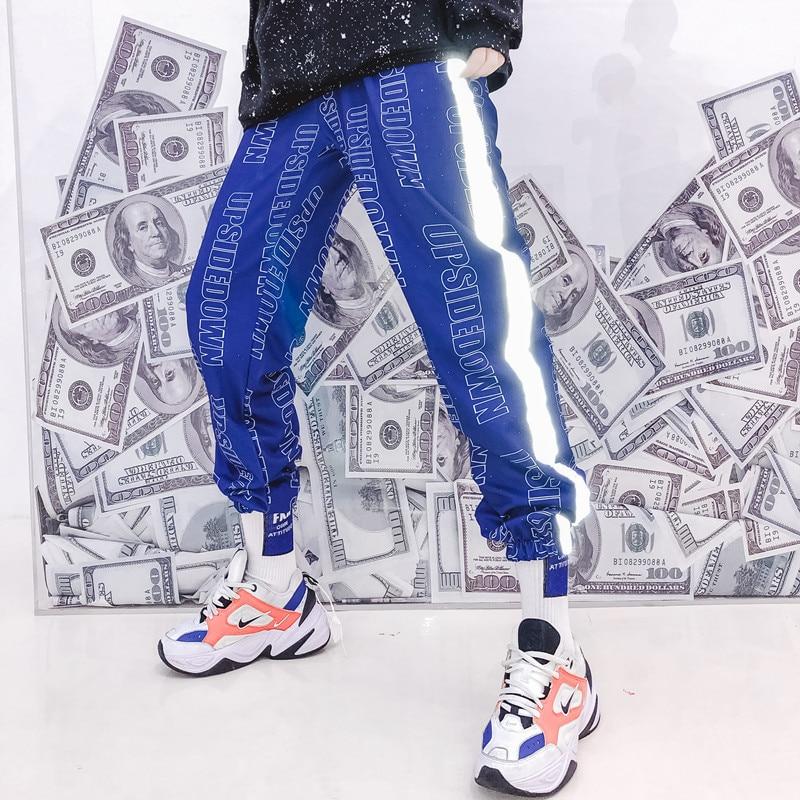 Female Hip Hop High Waist Harem Pants Women Slim reflect light Pants Hip Hop Sweetwear Trouser
