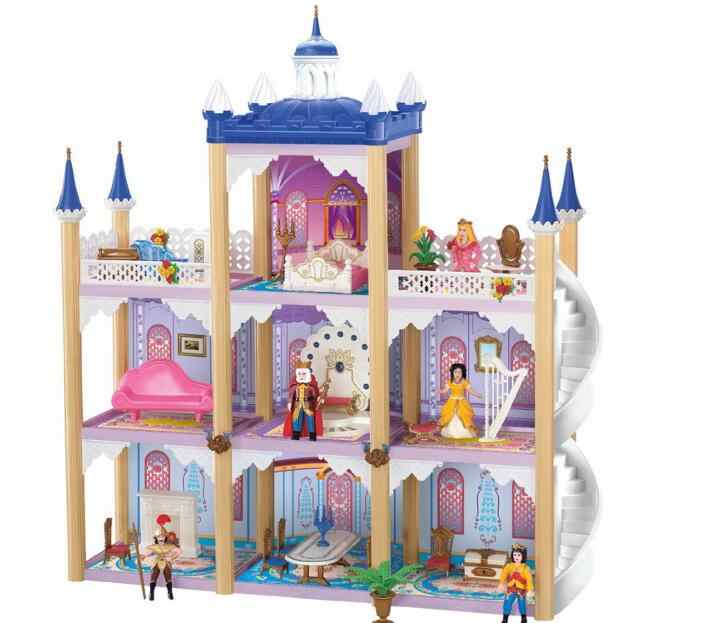 DIY Kit Dollhouse Toy Miniature Scale Model Puzzle castle Doll House,Unique Big Size House Toy With Furnitures for New Year Gift