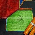 Tibetan Buddhist prayer flags,Buddhist Satin Wind Horse Lungta,6.5meters,Sutras Buddha clear pattern,Five Color 20 Flags Set