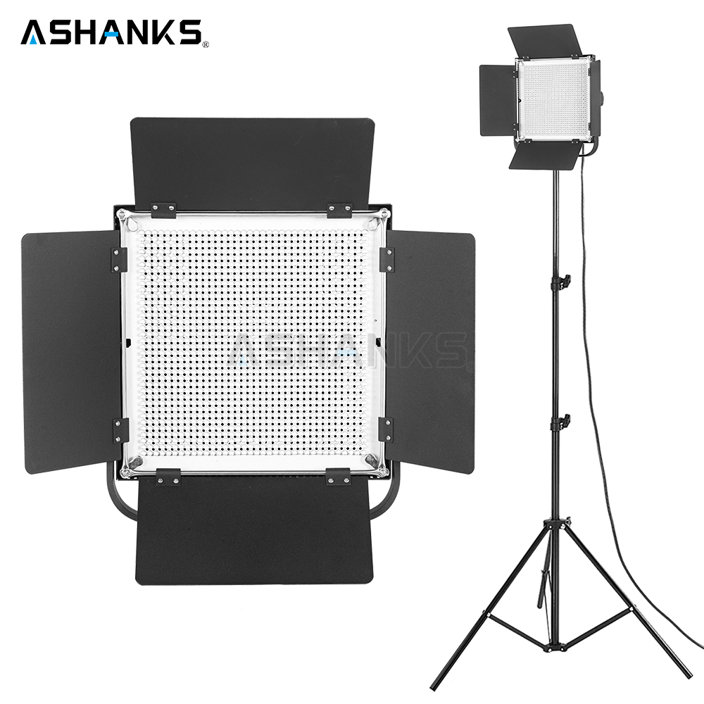 ASHANKS 85W LED Pad Panel Light with Stand Dimmer Continuous Light Bulbs for Photography Camera Video Photo Studio 3200K/5600K ashanks 800w studio video red head light with dimmer continuous lighting bulb free shipping